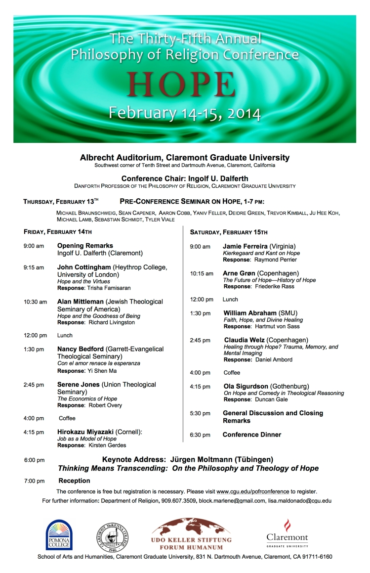 Claremont Philosophy Conference Hope 2014