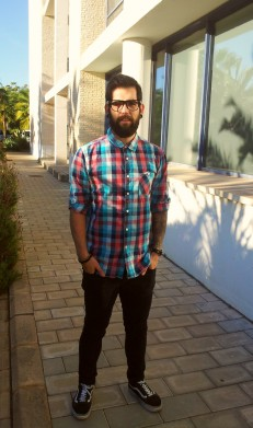 A typical Christian hipster... This guy is probably a pastor too.