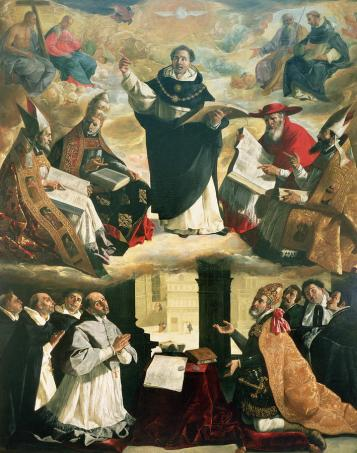 the-apotheosis-of-saint-thomas-aquinas-francisco-de-zurbaran
